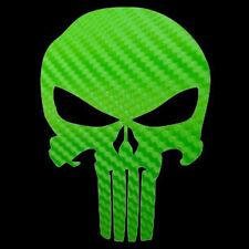Larger Carbon Fiber Punisher Decal Large Skull Punisher Sticker