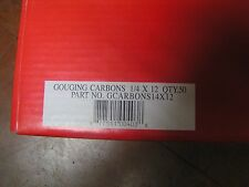 """1/4"""" x 12"""" Carbon Gouging Rods Copperclad DC Electrodes 50pc Weldcote Metals"""