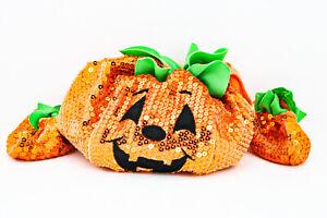 Build-A-Bear Orange Sequins Pumpkin Costume With Footies Shoes Halloween