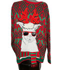 Holiday Time Men's Christmas Llama Ugly Tacky Sweater Sz. XL 46-48 Multicolored