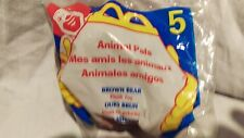 1997  McDonalds Happy Meal Toy - animal pals brown bear plush toy # 5 kids 3+