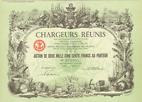 Chargeurs Reunis SA, Comp. Francaise de Navigation a Vapeur, accion, Paris, 1951