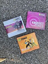 Lot Of 3 Zumba Fitness, Target Zones, Greatest Hits (9 Dvds Total)Cardio Workout