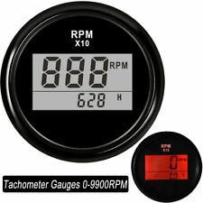 52mm Digital Tachometer Gauges 0-9900RPM Autometer Outboard for Car Boat Engine
