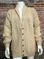 VTG Woolrich Chunky Cable Knit Shawl Cardigan Sweater, Size XL