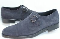 New Tod's Men's Shoes Strap Loafers Drivers Size 12 Dress Blue Suede Sale
