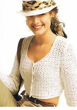 "Ladies Scoop Neck Summer Cardigan Crochet Pattern PATTERN ONLY 28""/38"" DK ±wl01"