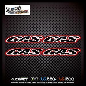 Gas Gas 02-08 Frame Guards Black Decal Sticker Trials (640)