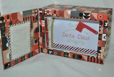 Fao Schwarz North Pole Express Metal Mailbox & Santa Stationary Set New In Box
