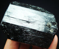 199g Precious Pure GEM Black Tourmaline/Schorl Crystal Mineral Specimen