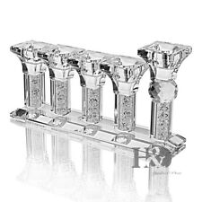 5Heads Clear Square Fill Diamond Crystal Candle Holder Wedding Party Decor Gifts