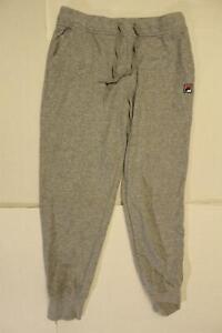 Fila Women's Drawstring Cotton Jogger Sweatpants SC4 Heather Grey Large