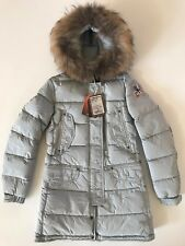 AUTHENTIC PARAJUMPERS HARRASEEKET YOUTH SMALL LONG PARKA FUR GIRLS KIDS PJS NEW