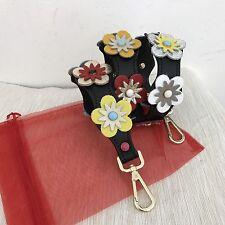 2 Tracolle  Shoulder Belt Borsa Vera Pelle Fendi Style ( 1 nera e 1 gialla)