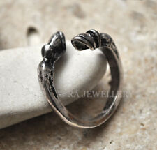 Antique Silver Plated Horse Hoof Ring / Thumb Ring Adjustable Ladies gift