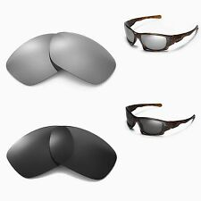New Walleva Polarized Black + Titanium Lenses For Oakley Ten