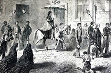 Guanajuato Mexico 1867 PRIEST CARRYING VIATICUM to Dying Man Matted Print TEXT