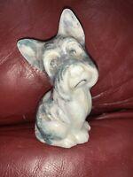 "Vintage 5"" Porcelain Scottie Dog Figurine Ceramic Scotty Scottish Terrier"