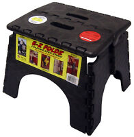 "9"" X 11.5"" Black EZ Folds Folding Step Stool"