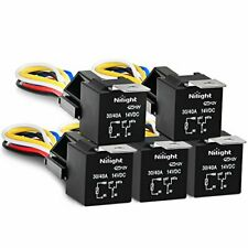 New listing Nilight 50003R Automotive Set 5-Pin 30/40A 12V Spdt with Interlocking Relay S.