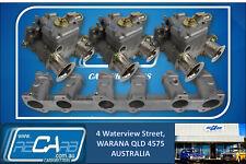 Chrysler Valiant Hemi - GENUINE WEBER Triple 40 DCOE Side Carburettor Full Setup