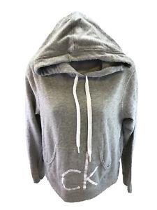 Calvin Klein Women's Gray Sleepwear Fleece Pullover Lounge Hoodie Sz M