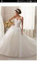 Mori lee wedding dress princess tulle beaded size 16 lace up
