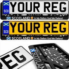 SCO Scottish Saltire Flag Badge Pressed Number Plates Metal Car REG Road Legal