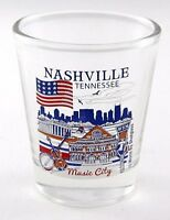 NASHVILLE TENNESSEE GREAT AMERICAN CITIES COLLECTION SHOT GLASS SHOTGLASS