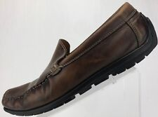 Ecco Driving Shoes Moccasin Moc Toe Slip On Leather Loafers Mens 43, 9/9.5 Brown