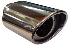 Fiat punto evo 115X190MM ovale échappement embout tuyau d'échappement pièce chrome vis clip on