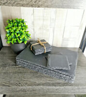 24 Piece Slate Placemat And Coaster Set Place Settings Drink Mats Dine Serve New