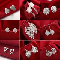 Wholesale 925 Sterling Silver Drop Dangle Earrings Stud Fashion Jewelry Womens