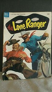 DELL COMICS THE LONE RANGER MARCH 1954 VOLUME 1 NO. 69.. WELL USED