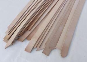 4 - 5mm thick  A/B grade veg tan leather belt by weight -natural & 40mm width