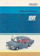 Fiat Automobile Press Kit and Press Photo