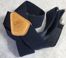 CLC Suspenders Blue Custom Leather Craft Clip 110 Wide USA Stretch