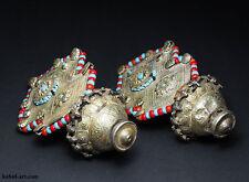 antique muchley silver earring Katawaz Afghanistan Pakistan antik Ohrringe No/4