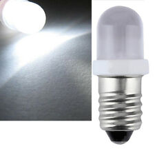 E10 LED Screw Base Indicator Bulb Cold White 24v DC Illumination Lamp Light GT