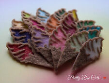 Conos de helado (5) Die Cut en capas fieltro Pastel Artesanía Adornos