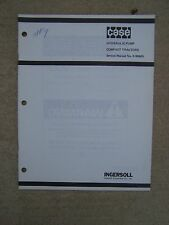 1980s Case Compact Tractor Hydraulic Pump Service Manual 9-99665 MORE IN STORE V