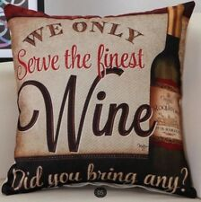 Wine Lovers Drink Lounge Cushion Cover Pillow Case Gift Home Decor Birthday