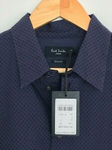 Paul Smith Gents Casual Tailored Shirt in Dot Print Sizes S-L - RRP £160