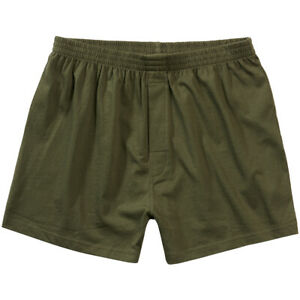 Brandit Boxer Hommes Sous-Vêtements Armée Short Combat Doux Coton Ample Olive