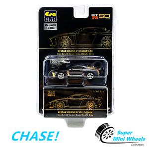 CHASE ! ERA Car 1:64 - Nissan GT-R50 By Italdesign (Liquid Grey & Gold)