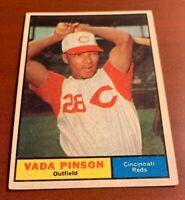 1961 Topps # 110 Vada Pinson Baseball Card Cincinnati Reds