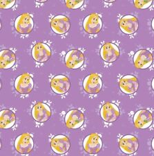 Camelot Disney Princess Forever 85100519 1 Purple Rapunzel Badges Cotton Fab