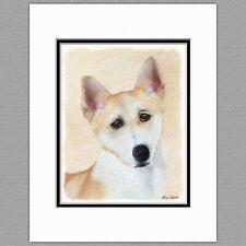 Canaan Dog Original Art Print 8x10 Matted to 11x14