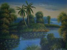 agua lirios grande pintura al óleo lienzo flores monet pantano apaisado original