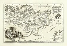 Kent 1786 - repro old map of Thomas Kitchin - 58x41cm - 20x16ins